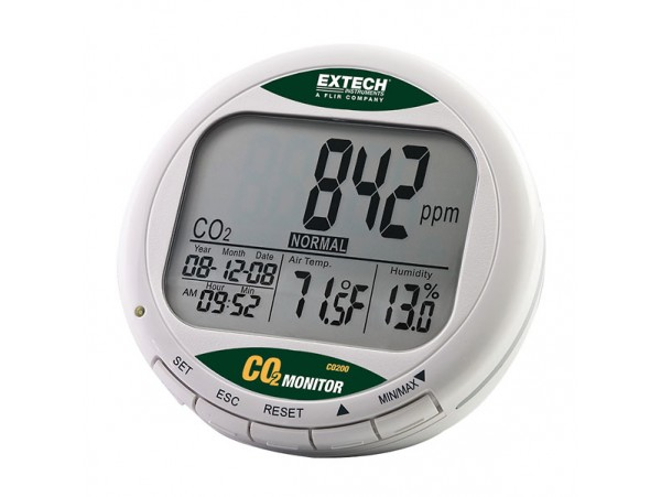 Monitor de CO2 para interiores EXTECH CO200