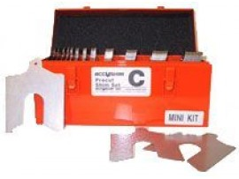 "Lainas Calibradas de Acero Inoxidable ACC 4""x 4"" Mini Kit"