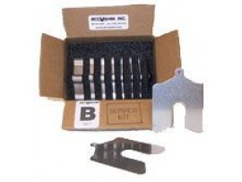 "Service Kit Lainas Calibradas de Acero Inoxidable 3"" x 3"""