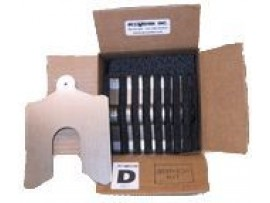 "Service Kit Lainas Calibradas de Acero Inoxidable 5"" x 5"""